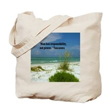 Man has responsibility15.35 Tote Bag