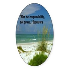 Man has responsibility5.5x8 Decal
