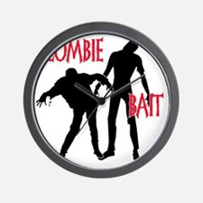 zombie bait black copy Wall Clock