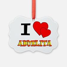 I Love Abuelita Ornament