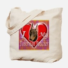 I Love My Doberman Pinscher Tote Bag