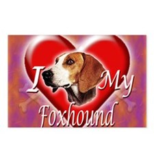 I Love My Foxhound Postcards (Package of 8)