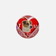 2-I Love My Jack Russell Mini Button