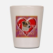 2-I Love My Jack Russell Shot Glass