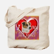 2-I Love My Jack Russell Tote Bag