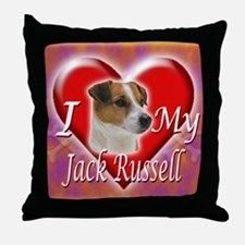 2-I Love My Jack Russell Throw Pillow