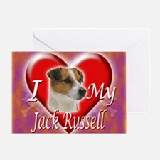 2-I Love My Jack Russell Greeting Card