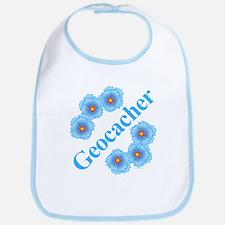 Geocacher Blue Flowers Bib