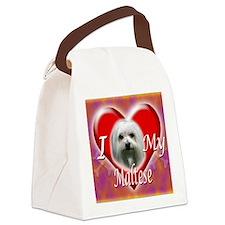 I Love My Maltese Canvas Lunch Bag