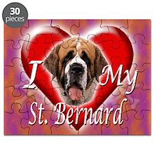 I Love My St Bernard Puzzle