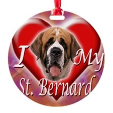 I Love My St Bernard Ornament