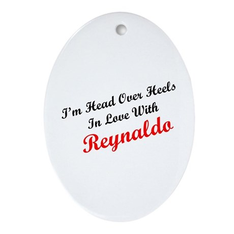 In Love with Reynaldo Oval Ornament