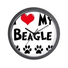 I-Love-My-Beagle Wall Clock
