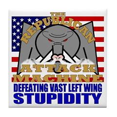 Republican Attack Machine Tile Coaster