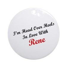 In Love with Rene Ornament (Round)