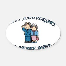 HAPPY ANNIVERSARY 50 Oval Car Magnet
