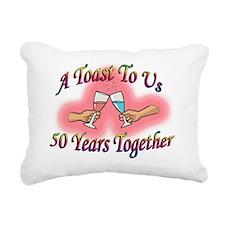 a toast 50 Rectangular Canvas Pillow