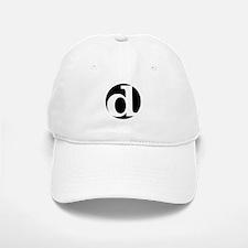 """black and white """"d"""" Baseball Baseball Cap"""