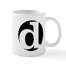 "black and white ""d"" Mug"