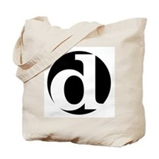 "black and white ""d"" Tote Bag"