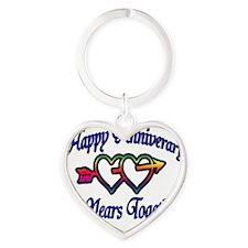 ann 2 hearts 2 Heart Keychain