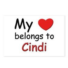 My heart belongs to cindi Postcards (Package of 8)