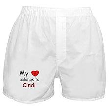 My heart belongs to cindi Boxer Shorts