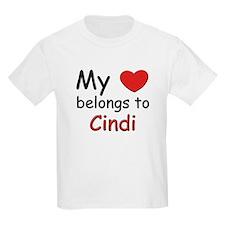 My heart belongs to cindi Kids T-Shirt