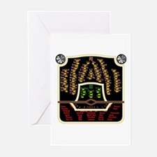 Antique Radio Face Greeting Cards (Pk of 10)