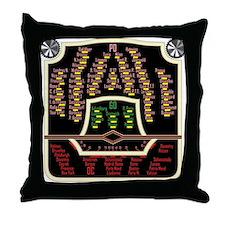 Antique Radio Face Throw Pillow