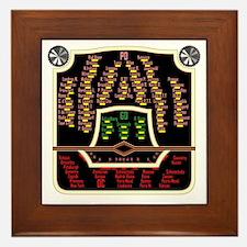 Antique Radio Face Framed Tile