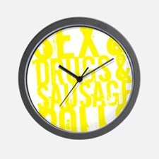 sausage rolls yellow Wall Clock