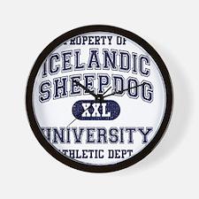 Icelandic-Sheepdog-University Wall Clock