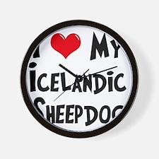 I-Love-My-Icelandic-Sheepdog Wall Clock