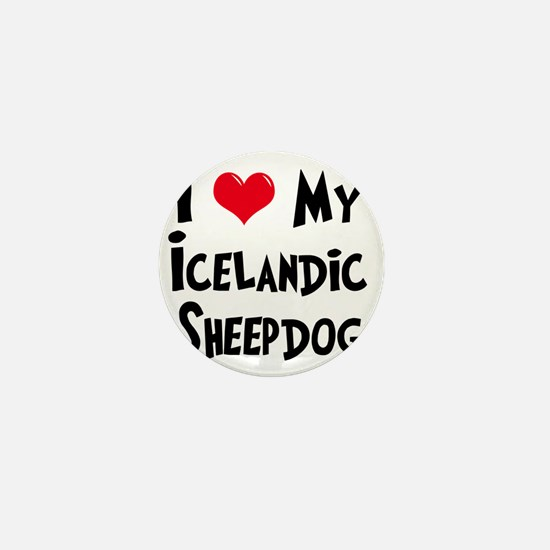 I-Love-My-Icelandic-Sheepdog Mini Button