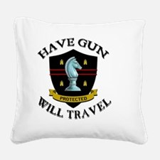 paladin Square Canvas Pillow