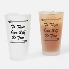 thine-own-self Drinking Glass