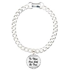 thine-own-self Charm Bracelet, One Charm