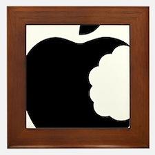 apple logo Framed Tile