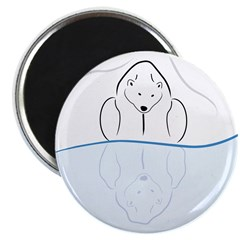 Polar Bear Reflection Magnet