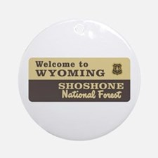 Welcome to Wyoming - USA Ornament (Round)