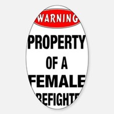 Female Firefighter Property Decal