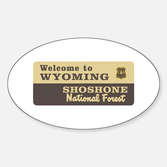 Welcome to Wyoming - USA Oval Decal