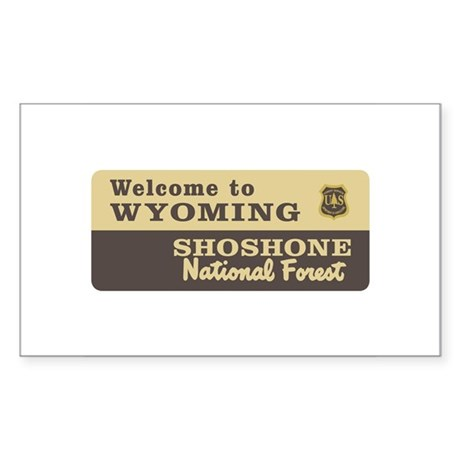 Welcome to Wyoming - USA Rectangle Sticker