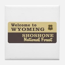 Welcome to Wyoming - USA Tile Coaster