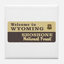 Welcome to Wyoming - USA Tile Coaster