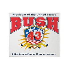President George W Bush.43 Throw Blanket