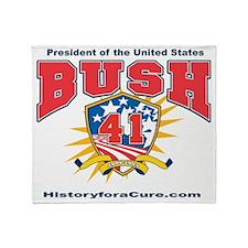 President George HW Bush.41 Throw Blanket