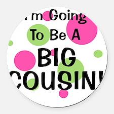 circles_goingtobeaBIGCOUSIN_girl Round Car Magnet