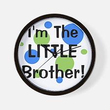 imthelittlebrother_greenbluecircles Wall Clock
